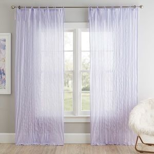 PBTeen Twisted Curtains in Lavender 40x63